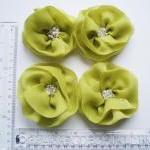 Lime Flowers Handmade Appliques Emb..