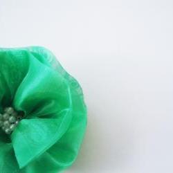 Emerald Green Flowers Handmade Appliques Embellishments(4 pcs)